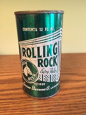 Rolling Rock Extra Pale Premium Beer Flat Top Beer Can, Latrobe, PA