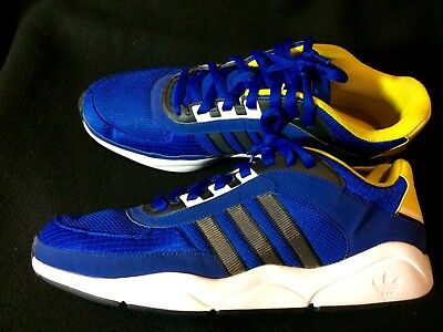 Adidas Athletic Running Shoes Mens Size 12 in Blue and Yellow Nearly New