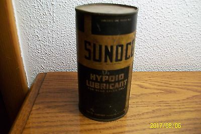 Sunoco Sun Oil Co. Hypoid Lubricant 16 Oz. Metal Can Full 1937