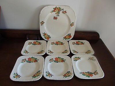 Beautiful 7 Piece English Cake Set