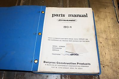 Dynahoe 190-4 parts manual IN PDF FORMAT 1986 and earlier