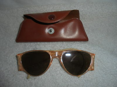Vintage sunglasses with case very unusuall