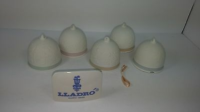 Lladro Collectible Vintage Bell Ornament Set