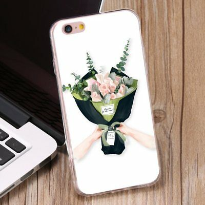 A Bunch Of Flowers Pattern Shockproof Soft TPU Phone Case Cover for iPhone 7Plus