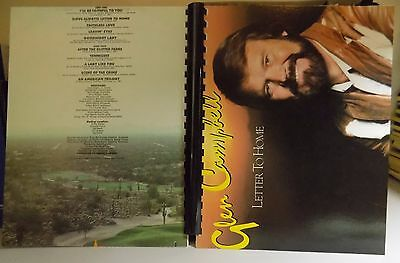 """Record Album Art Notebook Glen Campbell """"Letter To Home"""" 1984"""
