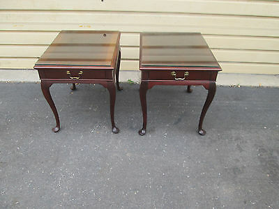 57737  Pair HICKORY CHAIR Lamp Table Stand s