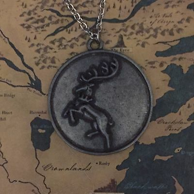 House Baratheon Stag Sigil Necklace Game of Thrones ASOIAF Robert Gendry Cosplay
