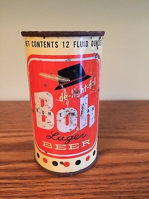 Boh Bohemian Lager Beer Flat Top Beer Can, Fall River MA
