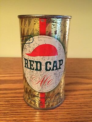 Red Cap Ale Flat Top Beer Can, Belleville, IL