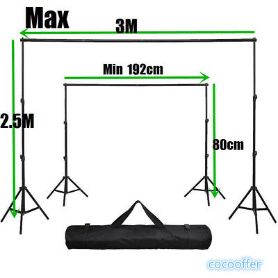 10Ft Photography Photo Background Backdrop Support Stand System Kit Set