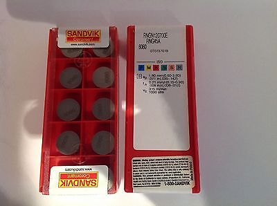 Sandvik ceramic inserts RNGN 120700E RNG 45A 6060 new box of 10