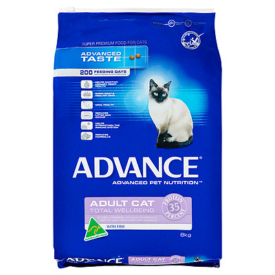 Advance Cat Total Wellbeing Fish 8kg Dry Cat Food