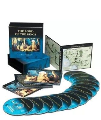 THE LORD OF THE RINGS J.R. Tolkien 13 CD boxes set. Excellent condition.