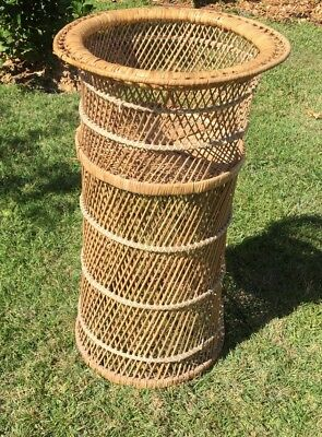 Vintage Peacock Style Cane Plant Stand P:U Gold Coast