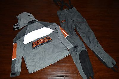 Genuine Harley Davidson SMALL Packable Rain Suit Riding Gear Womens Jacket Pants