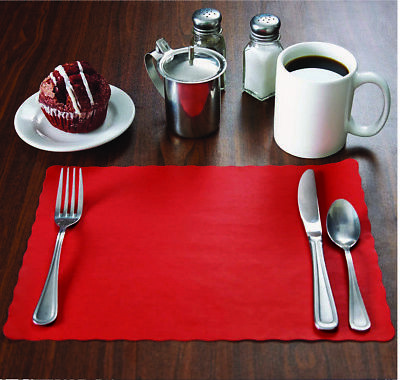 """Raise® Paper Placemats,Scalloped Edge, 10""""x14"""" place mats,Disposable,Ships Free"""