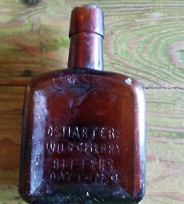 DR HARTERS WILD CHERRY BITTERS BOTTLE medicine pharmacy old store