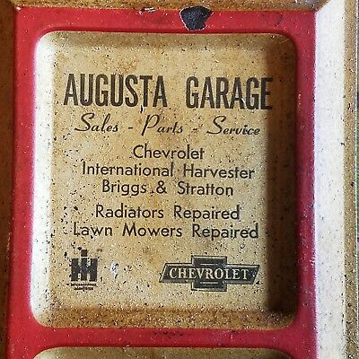 Old 1920 Augusta Mo Chevrolet International Harvester tractor sign thermometer