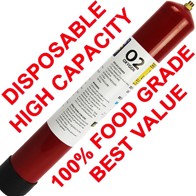 100% Food Grade Oxygen Disposable M12 157L Capacity - Oxygenating Beer / Welding