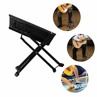 Guitar Foot Stool Folding Metal Rest for Acoustic Electric  Classical Guitars