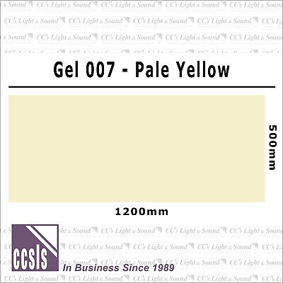 Clear Color 007 Filter Sheet - Pale Yellow