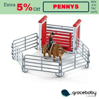 Schleich - Bull Riding with Cowboy 41419