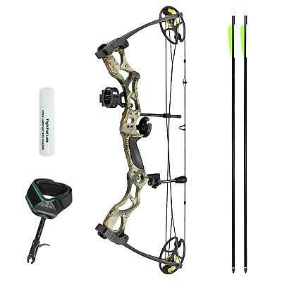 "SET: Man Kung Compoundbogen Hawk® Green Camo 25-31""/40-70 lbs RH"