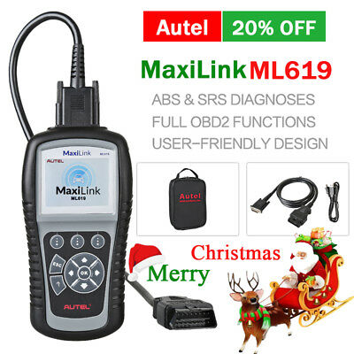 Autel ML619 AL619 Car Fault DTC Code Reader OBD2 Diagnostic Scanner ABS SRS UK