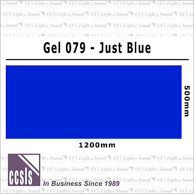 Clear Color 079 Filter Sheet - Just Blue