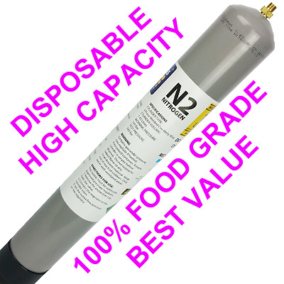 100% Food Grade Nitrogen Disposable M10 157L Capacity - Wine / Cold Brew / Stout