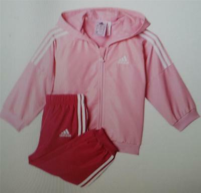 adidas girls infant woven hooded tracksuit pink fuchsia ak2597 various sizes