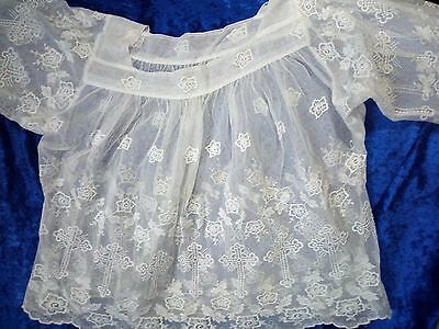 Georgian/victorian christening gown circa1850 French Lace