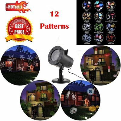 12 Image Landscape Moving DEL Mobile Laser Projecteur Lumière Fastval Party Lamp