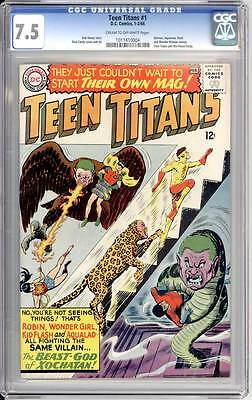 Teen Titans # 1  The Beast-God of Xochatan !  CGC 7.5 scarce book !