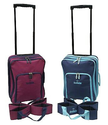 ACCLAIM St Andrews Unisex Bowls Bowlers Bowling Trolley Bag & Four Bowls Carrier
