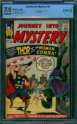 Journey into Mystery # 98  Thor Meets the Human Cobra !  CBCS 7.5 scarce book !