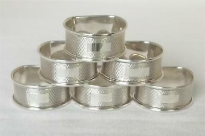 A Stunning Set Of Six Solid Sterling Silver D Shaped Napkin Rings Dates 1963.