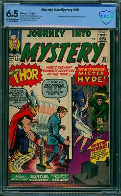 Journey into Mystery # 99  The Mysterious Mister Hyde !  CBCS 6.5 scarce book !