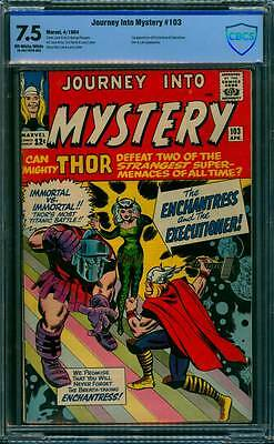 Journey into Mystery # 103 1st Enchantress,  Executioner !  CBCS 7.5 scarce book