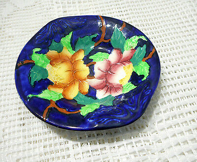 Vintage Maling Hand Painted Peony Pattern Bowl Made In England