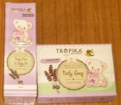 Tropika Head To Toe Duo Set - Baby Soap and Baby Hair + Body Oil - Lavender