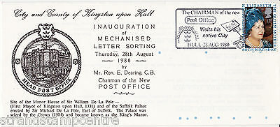 1980 Queen Mother - Unusual Hull MLO Inauguration Commemorative Cover