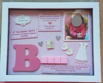 Christening Gift Frame Personalised Girl Keepsake Photo Can Be Included Baptism
