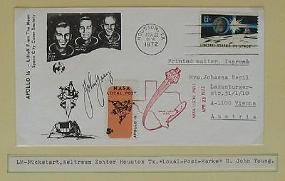 s1184) Raumfahrt Space Apollo 16 NASA Local Post 23.4.1972 Autograph John Young