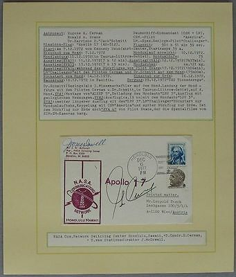 s1197 Raumfahrt Space Apollo 17 Tracking Hawaii 6.12.72  Autograph Eugene Cernan