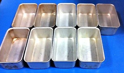Lot of 9 Lincoln Wear-Ever 3lb Aluminum Non-Stick Loaf Pans 5433 Restaurant