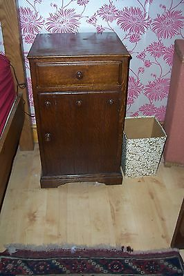 Pair of antique oak bedside cabinets, circa 1900 - 1920