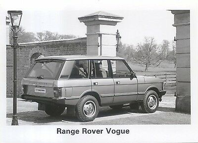 Range Rover Vogue original black & white Press Photograph rear/side view