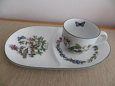 Royal Worcester 'Herbs' Cup and Saucer/Plate