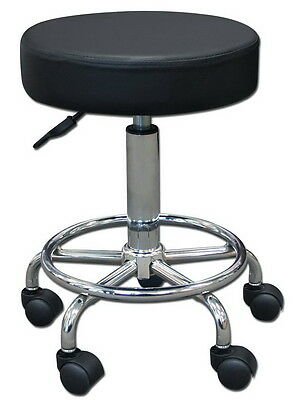 Stool Medical Doctor Office Furniture Lab Adjustable Dental Exam Chair Black 14""